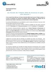 communique de presse forum de l emploi ed 3