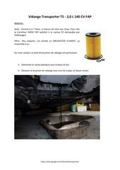 tutoriel vidange transporter t5