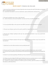 Fichier PDF brief site web