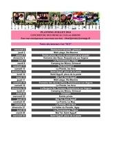 dates concerts clea jeremy juillet 2014