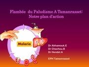 flambee du paludisme a tamanrasset notre plan d action
