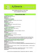gacetilla de actividades 04 al 11 de julio