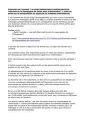 extension a l expose le credo frankiste sabbataeste