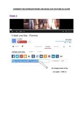 Fichier PDF extraire une music sur youtube ou autre