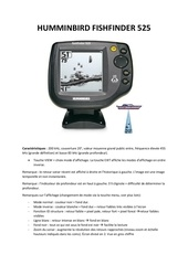 humminbird fishfinder 525