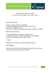 revue presse isupnat juillet 2014