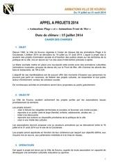 Fichier PDF appel a projets ete2014