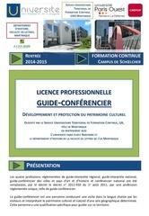 brochure licence professionnelle guide conferencier