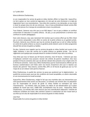 lettre a mme la ministre charbonneau