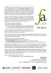 communique de presse lancement prix 2014 long