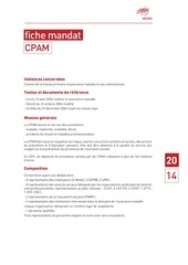 fiche mandat cpam 2014 2017