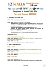 Fichier PDF programme du forum ict4all 2014
