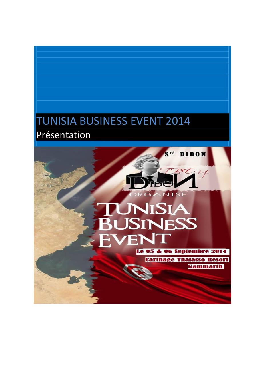 Tunisia Business Event 2014 Participation etrangers.pdf - page 1/16