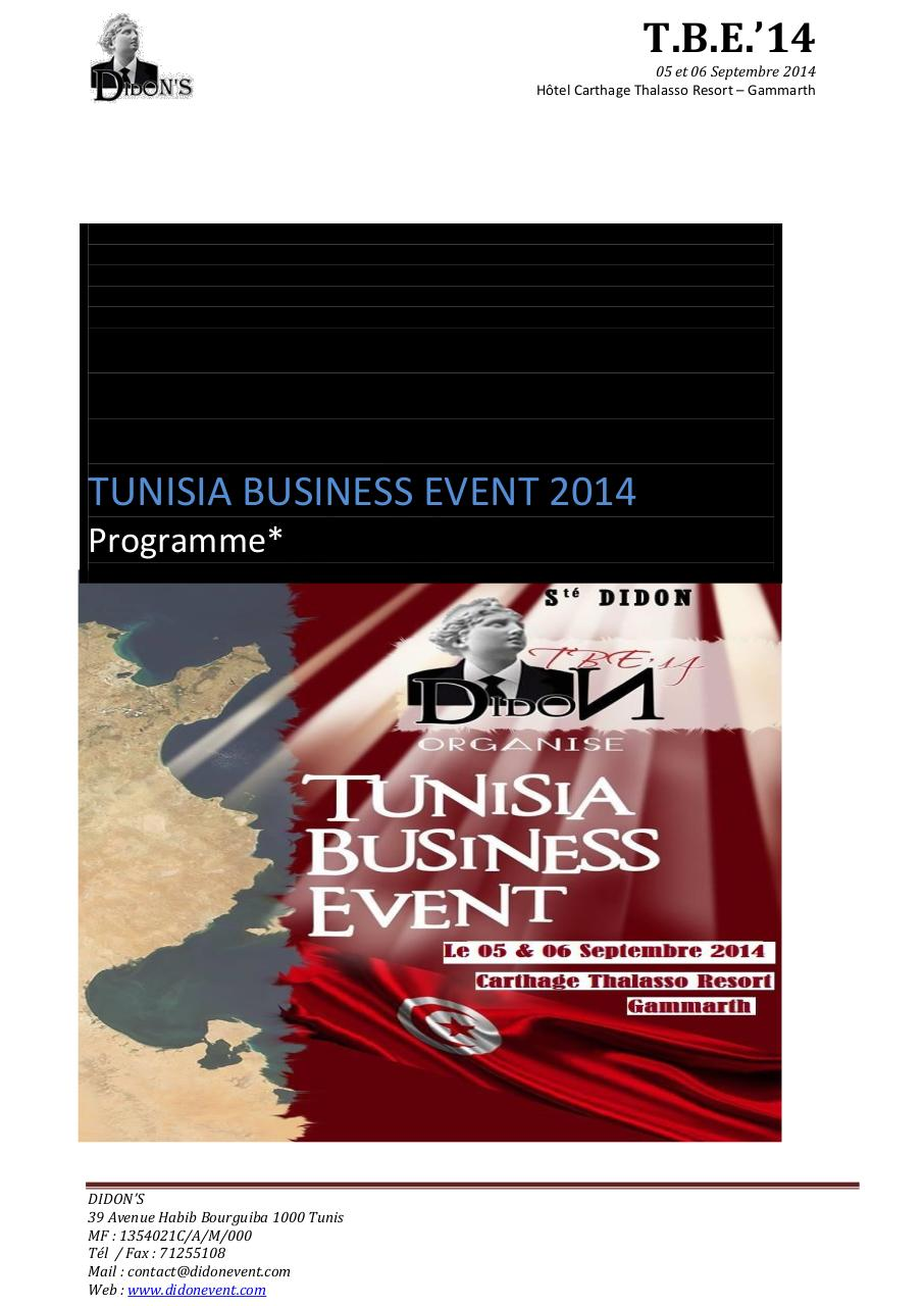 Tunisia Business Event 2014 Participation etrangers.pdf - page 4/16