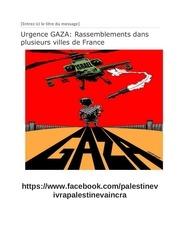 urgence gaza les rassemblements pour les palestiniens docx