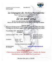 affiche parcours concours 11 aout 2013