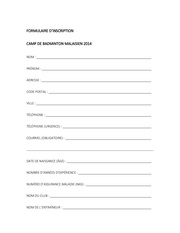 Fichier PDF formulaire inscription b