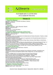 gacetillas de actividades 11 al 18 de julio