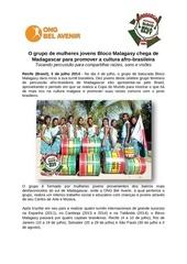 bloco malagasy promover a cultura afro brasileira