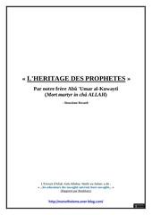 l heritage des prophetes volume 2