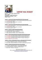 lovin all night 1