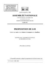 proposition loi juillet 2014 taxis autres