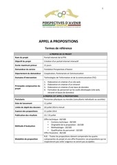 appel a propositions conception site web fpa 1