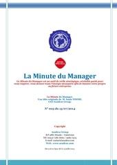 la minute du manager 14 juillet 2014