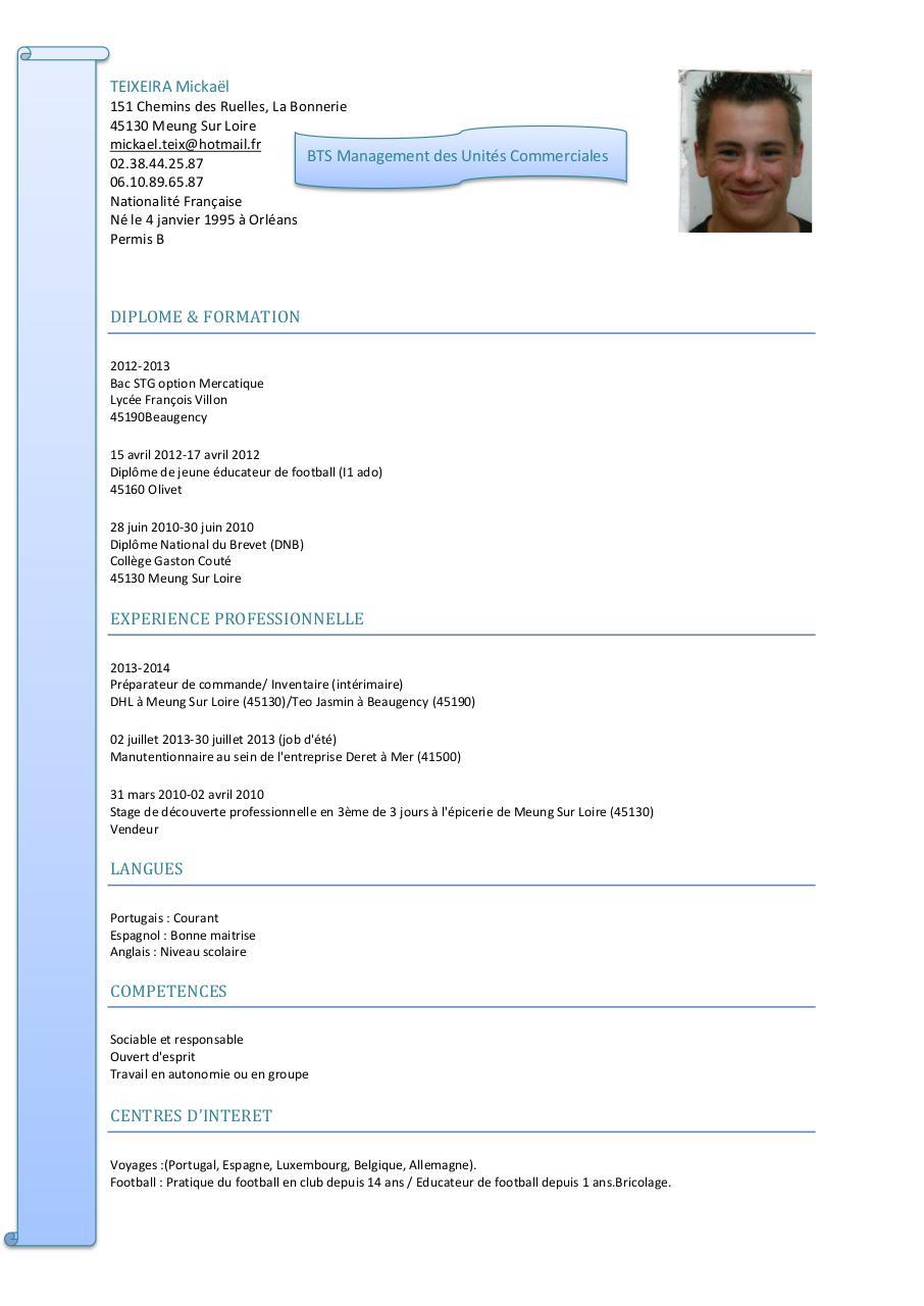 cv bts muc m teixeira pdf par famille teixeira