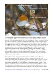 la parabole des oiseaux et le combat spirituel