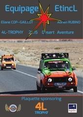 plaquette 4l trophy etincl