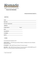 Fichier PDF fiche renseignements