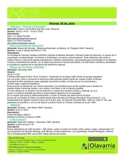 gacetilla de actividades del 18 al 25 julio