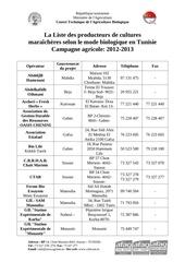 liste operateurs legumesbio 2013