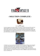 guide complet final fantasy vi