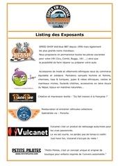 listing exposants super vw festival