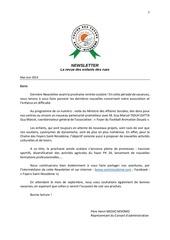 newsletter french mai juin 2014