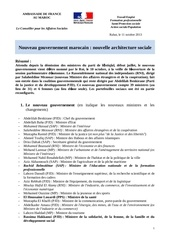 nouveau gouvernement marocain nomme le 10 octobre 2013