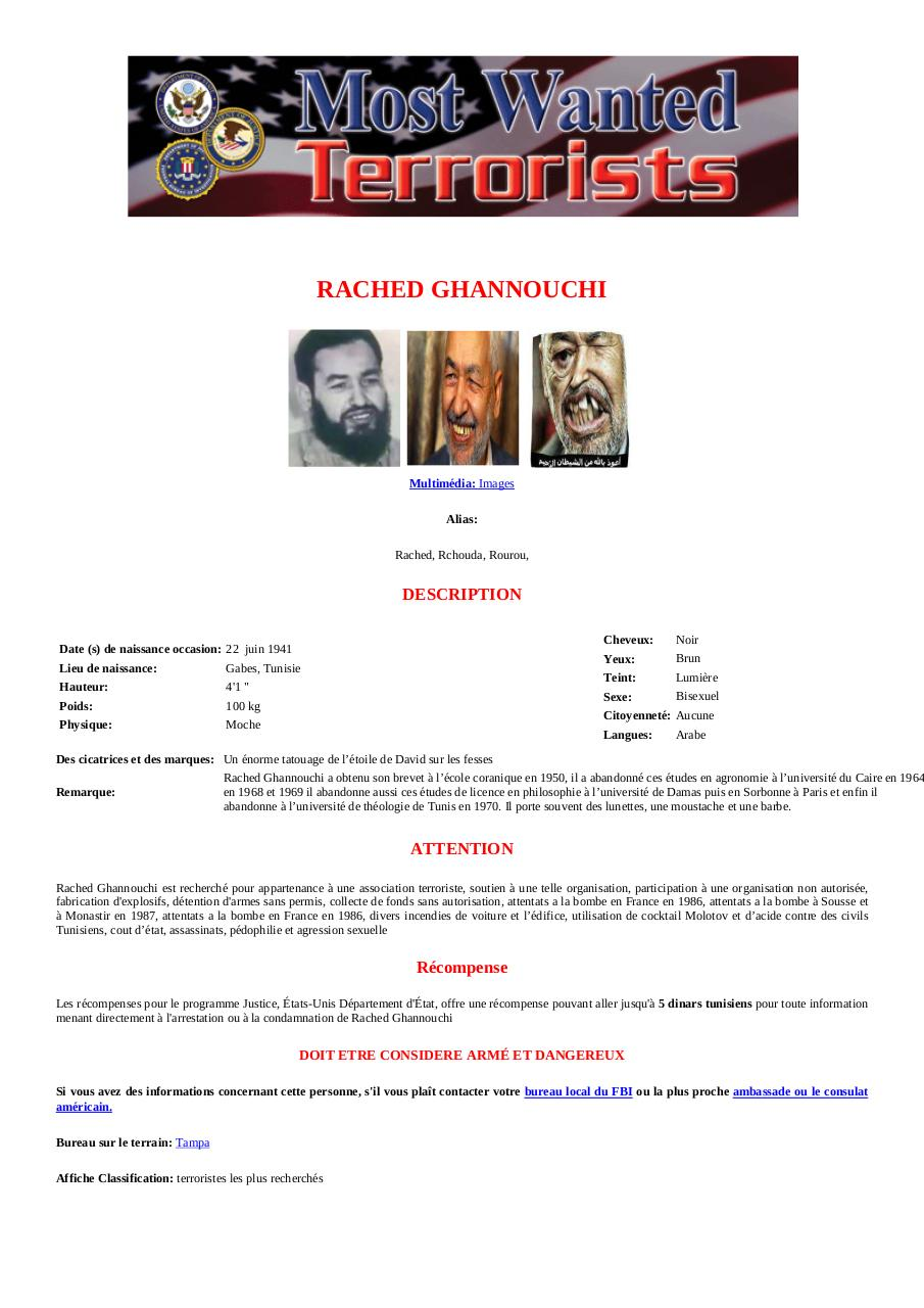 Aperçu du document Wanted Rached Ghannouchi.pdf - page 1/1