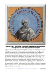 le grand pape reformateur providentiel de l eglise