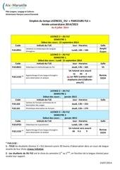 options fle au 9 juillet 2014