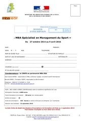 dossier inscription formationmba