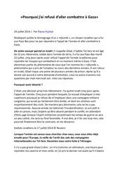 Fichier PDF pourquoi j ai refuse d aller combattre a gaza