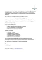 Fichier PDF profil de postetee