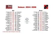 eag actus calendrier 2014 2015