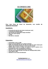 Fichier PDF le croque cake