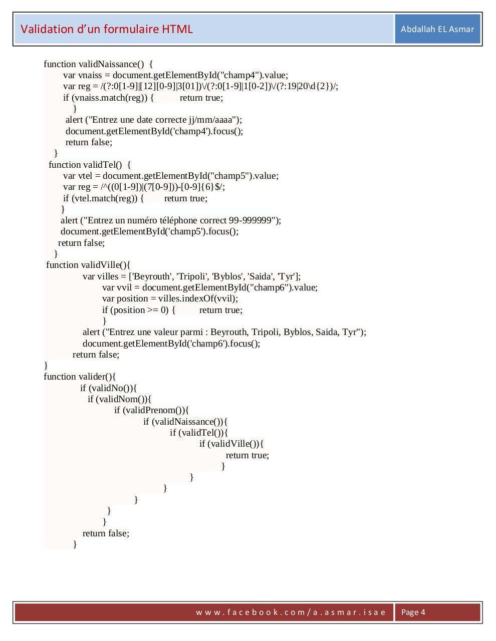 Validation formulaire html.pdf - page 4/9