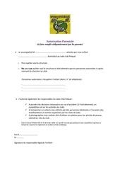 Fichier PDF autorisation parentale judo