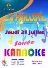 affiche karaoke 31 juillet