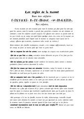 les regles de la maison 1